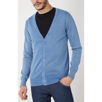 textil Hombre Chaquetas de punto War Wolf WH68007 AZUL