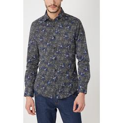 textil Hombre Camisas manga larga War Wolf MN306 VERDE
