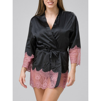 textil Mujer Pijama Luna Kimono Cabaret Pearl Black