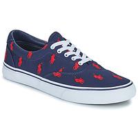 Zapatos Hombre Zapatillas bajas Polo Ralph Lauren THORTON-SNEAKERS-VULC Marino / Rojo