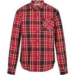 textil Hombre Camisas manga larga Regatta  Rojo Dheli