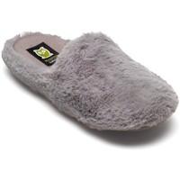 Zapatos Mujer Pantuflas Marpen Pelo Gris