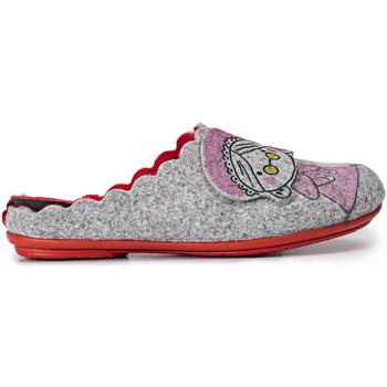 Zapatos Mujer Pantuflas Marpen Caperucita Gris