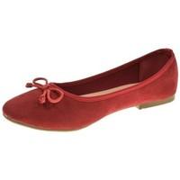 Zapatos Niña Bailarinas-manoletinas Isteria MANOLETINAS  ROJO Rojo
