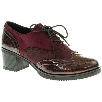 Zapatos Mujer Richelieu Deity ZAPATO TACÓN  BURDEOS Violeta