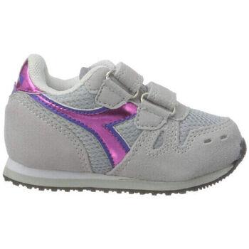 Zapatos Niña Running / trail Diadora simple run td girl 65010 Rosa