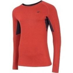 textil Hombre Sudaderas 4F Mens Functional Longsleeve rojo