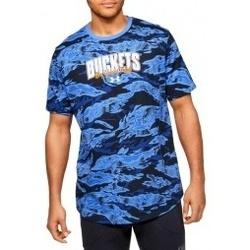 textil Hombre Camisetas manga corta Under Armour Baseline Verbiage Tee azul