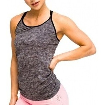 textil Mujer Camisetas sin mangas Gymhero L.A Classic Basic Tee gris