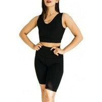Accesorios Mujer Complemento para deporte Gymhero L.A Classic Top Long Bra negro