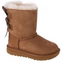 Zapatos Niños Botas de caña baja UGG Bailey Bow II T Kids marrón