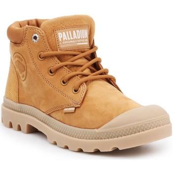 Zapatos Mujer Botas de caña baja Palladium Manufacture Pampa Cuff Lea Marrón