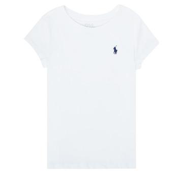 textil Niña Camisetas manga corta Polo Ralph Lauren ZALLIE Blanco