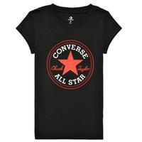 textil Niña Camisetas manga corta Converse TIMELESS CHUCK PATCH TEE Negro
