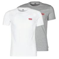 textil Hombre Camisetas manga corta Levi's 2PK CREWNECK GRAPHIC Blanco