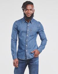 textil Hombre Camisas manga larga Levi's SUNSET 1 PKT SLIM Azul