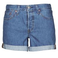textil Mujer Shorts / Bermudas Levi's 501 ROLLED SHORT Azul