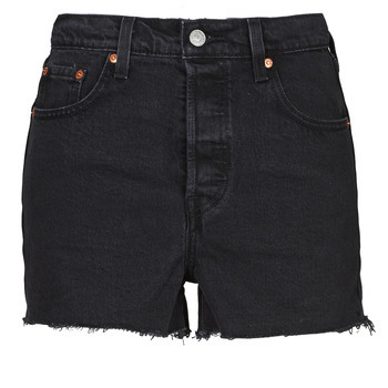 textil Mujer Shorts / Bermudas Levi's RIBCAGE SHORT Negro