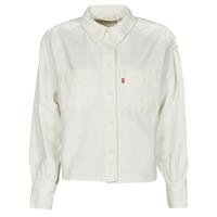 textil Mujer Camisas Levi's ZOEY PLEAT UTILITY SHIRT Blanco