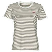 textil Mujer Camisetas manga corta Levi's PERFECT TEE Beige