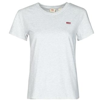 textil Mujer Camisetas manga corta Levi's PERFECT TEE Gris