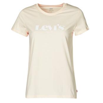 textil Mujer Camisetas manga corta Levi's THE PERFECT TEE Beige