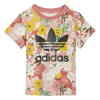 textil Niña Camisetas manga corta adidas Originals DREZZI Multicolor