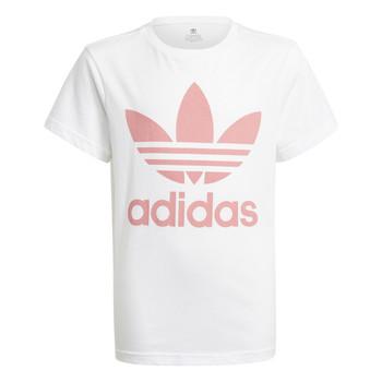 textil Niños Camisetas manga corta adidas Originals HOULILA Blanco