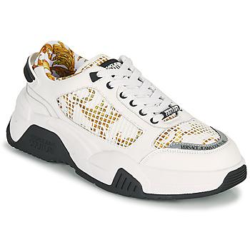 Zapatos Hombre Zapatillas bajas Versace Jeans Couture HATINA Blanco / Oro