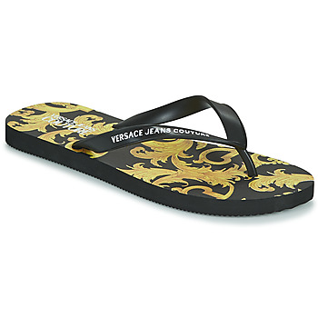 Zapatos Hombre Chanclas Versace Jeans Couture ELASTINE Negro / Oro