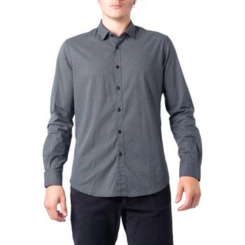 textil Hombre Camisas manga larga Hydra Clothing BU21W11CA/FIO2121 Nero