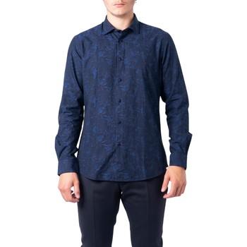 textil Hombre Camisas manga larga Hydra Clothing BU21W07CA Blu