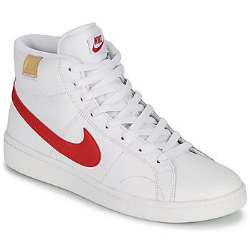 Zapatos Hombre Zapatillas bajas Nike COURT ROYALE 2 MID Blanco / Rojo