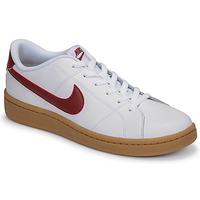 Zapatos Hombre Zapatillas bajas Nike COURT ROYALE 2 LOW Blanco / Rojo