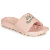Zapatos Mujer Chanclas Nike VICTORI ONE BENASSI Rosa / Plata
