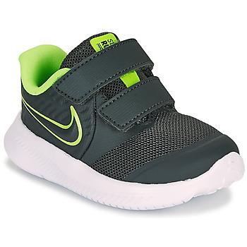 Zapatos Niño Multideporte Nike STAR RUNNER 2 TD Negro / Verde