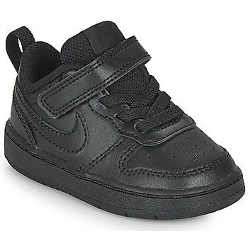 Zapatos Niños Zapatillas bajas Nike COURT BOROUGH LOW 2 TD Negro