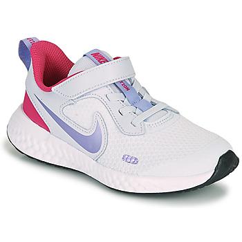 Zapatos Niña Multideporte Nike REVOLUTION 5 PS Azul / Violeta