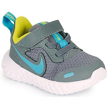 Zapatos Niño Multideporte Nike REVOLUTION 5 TD Gris / Azul