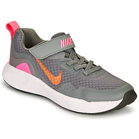 Zapatos Niña Multideporte Nike WEARALLDAY PS Gris / Rosa