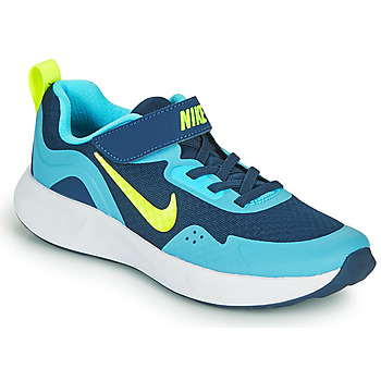 Zapatos Niño Multideporte Nike WEARALLDAY PS Azul / Verde