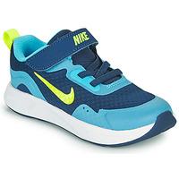 Zapatos Niño Multideporte Nike WEARALLDAY TD Azul / Verde