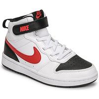 Zapatos Niño Zapatillas bajas Nike NIKE COURT BOROUGH MID 2 Blanco / Rojo / Negro