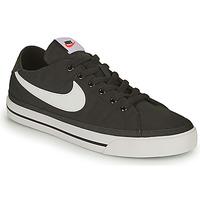 Zapatos Hombre Zapatillas bajas Nike NIKE COURT LEGACY CANVAS Negro / Blanco