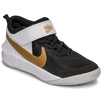 Zapatos Niños Multideporte Nike NIKE TEAM HUSTLE D 10 Blanco / Negro / Oro