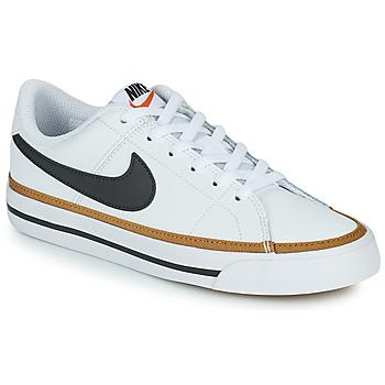 Zapatos Niños Zapatillas bajas Nike NIKE COURT LEGACY Blanco / Negro