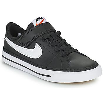 Zapatos Niños Zapatillas bajas Nike NIKE COURT LEGACY Negro / Blanco