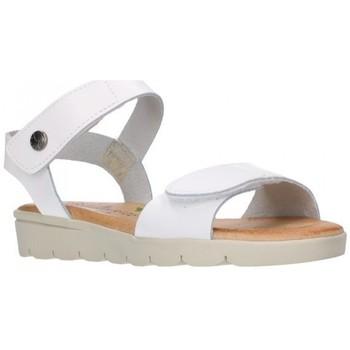 Zapatos Niña Sandalias Valeria's 6404 BLANCO PLANTA CUERO Niña Blanco blanc