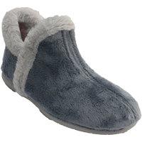 Zapatos Mujer Pantuflas Muro Zapatillas mujer bota tobillera pelo alr azul