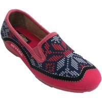 Zapatos Mujer Pantuflas Nevada Zapatilla mujer cerrada simulando punto rosa